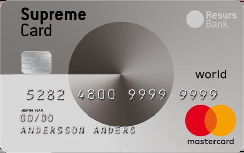 Supreme Card World Kreditkort
